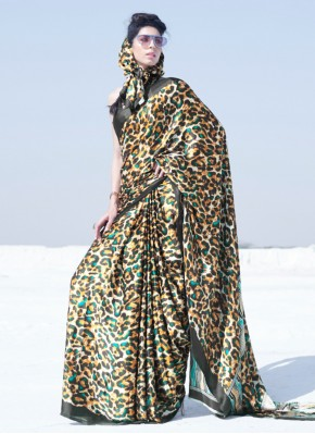 Crepe Silk Printed Multi Colour Casual Saree