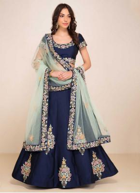 Customary Blue Zari Designer Lehenga Choli