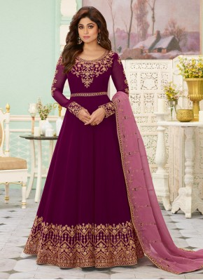 Customary Embroidered Anarkali Suit