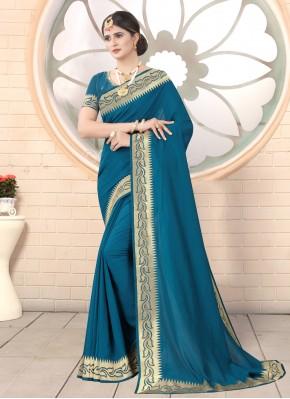 Customary Rama Silk Traditional Saree