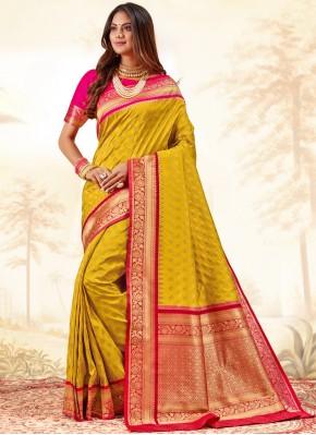 Customary Silk Weaving Trendy Saree