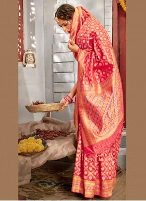 Customary Weaving Banarasi Silk Designer Traditional Saree