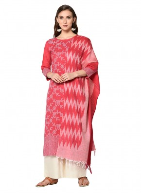 Dainty Cotton Print Pink Salwar Suit