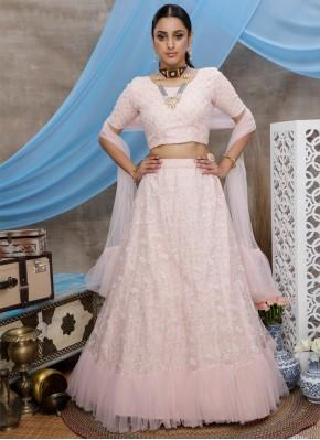 Dainty Pink Trendy Lehenga Choli