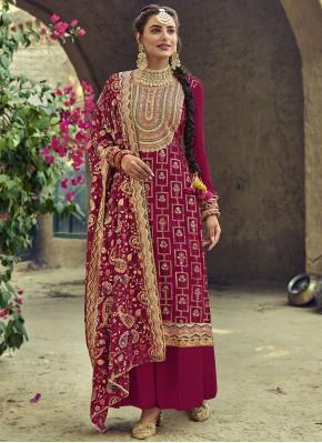 Dainty Resham Designer Palazzo Suit