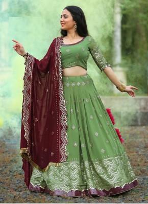 Dashing Chiffon Sequins Work Readymade Chaniya Choli