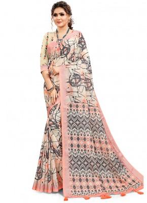 Dashing Cotton Digital Print Multi Colour Printed Saree