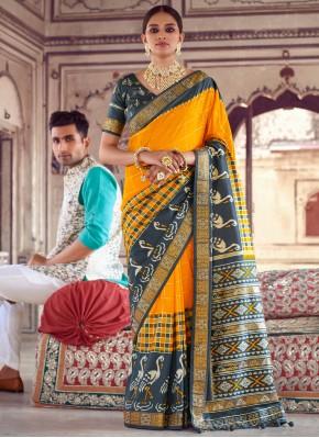 Dashing Yellow Engagement Designer Saree