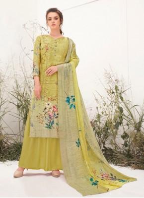 Dazzling Print Ceremonial Designer Palazzo Suit