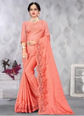 Dazzling Satin Designer Saree