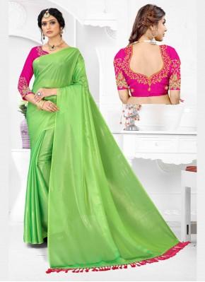Delectable Organza Green Classic Designer Saree