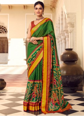 Delectable Print Ceremonial Traditional Designer Saree