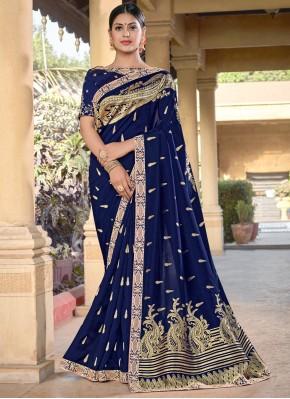 Delightful Blue Designer Traditional Saree