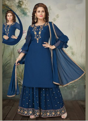Delightsome Embroidered Trendy Salwar Suit
