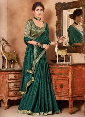 Delightsome Green Classic Saree