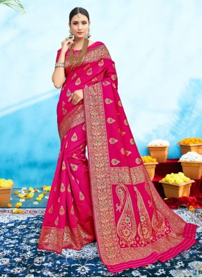 Delightsome Weaving Silk Traditional Designer Saree