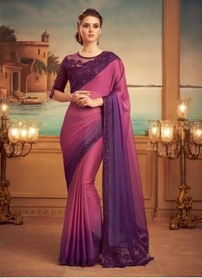 Demure Purple and Wine Shaded Saree