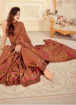 Deserving Brown Festival Designer Bollywood Saree
