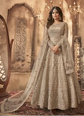Deserving Embroidered Shamita Shetty Net Floor Length Anarkali Suit