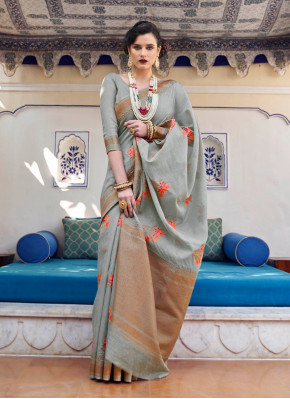 Designer Banarasi chanderi silk Saree