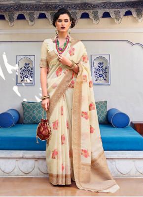 Banarasi Linen silk Designer Saree