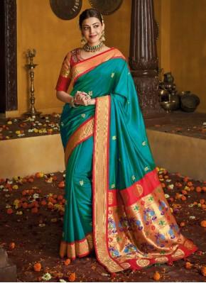 Designer Traditional Saree Weaving Silk in Blue