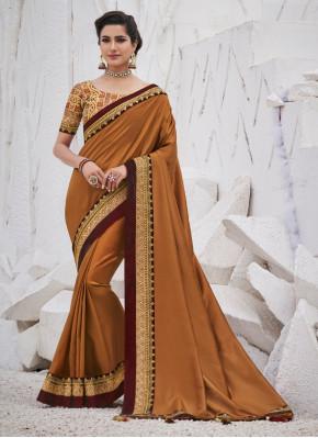 Dignified Satin Silk Saree for Wedding.