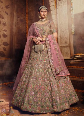 Dilettante Brown Georgette Designer Lehenga Choli