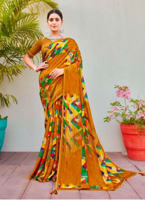 Distinctively Abstract Print Cotton Silk Printed Saree