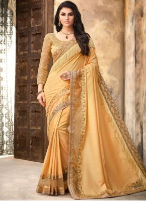 Distinctively Border Silk Trendy Saree