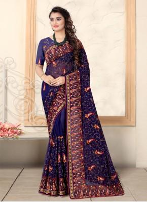 Distinctively Resham Ceremonial Designer Saree