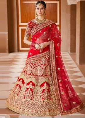 Distinctively Zari Velvet Bollywood Lehenga Choli