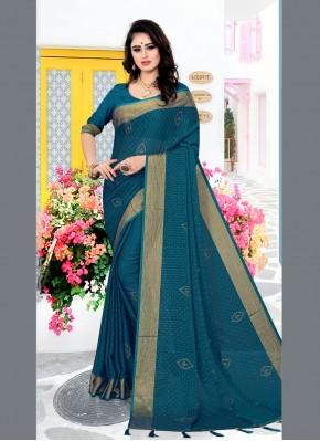 Distinguishable Swarovski Satin Silk Traditional Saree