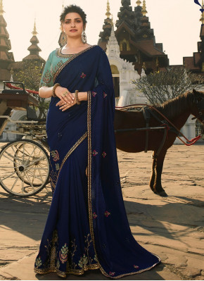 Elegant Embroidered Designer Saree