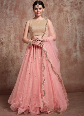Elegant Pink Party Trendy Lehenga Choli