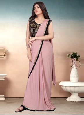 Elegant Sequins Lavender Classic Saree