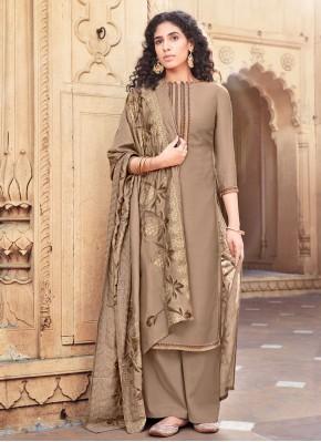 Elite Embroidered Designer Palazzo Salwar Suit