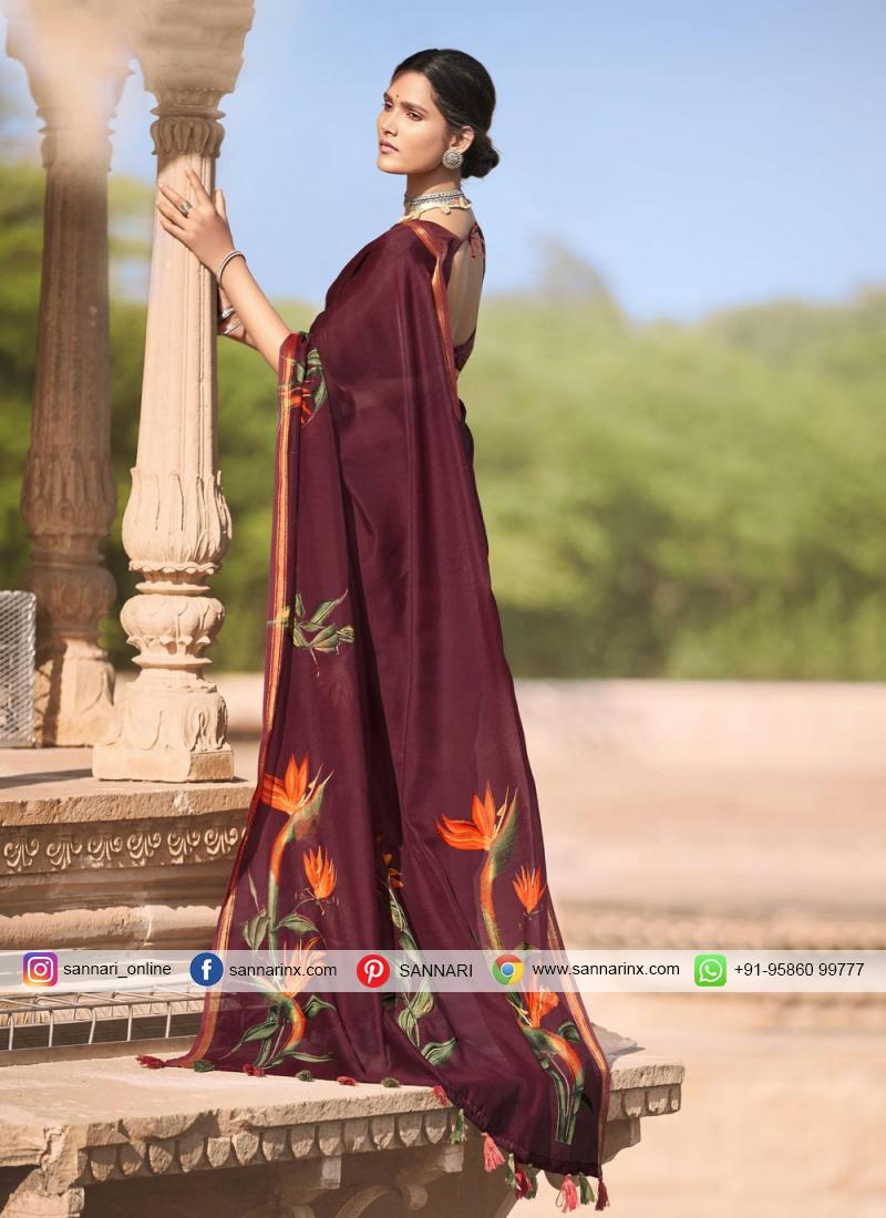 Elite Multi Colour Printed Saree