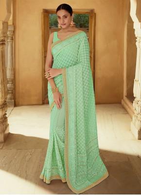 Elite Thread Georgette Classic Designer Saree