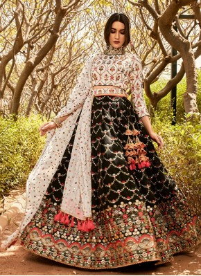 Embroidered Chiffon Designer Readymade Lehngha Choli