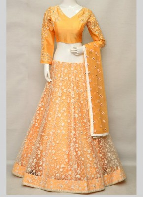 Embroidered Net Lehenga Choli in