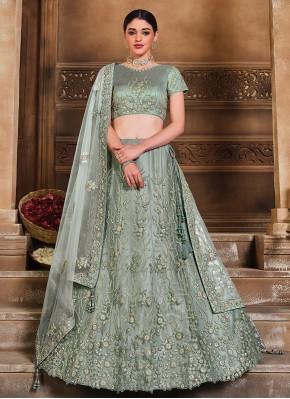 Enchanting Net Sangeet Lehenga Choli