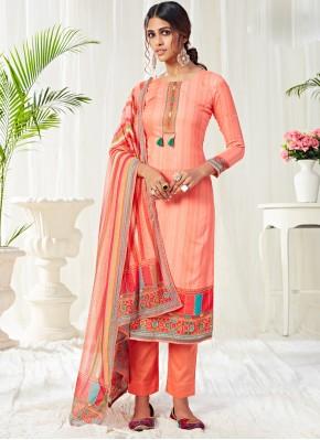 Enchanting Peach Festival Trendy Salwar Suit