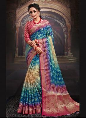 Energetic Digital Print Multi Colour Designer Saree