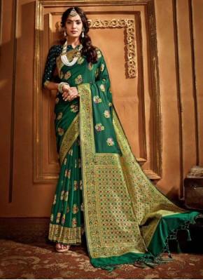 Energetic Silk Reception Contemporary Saree