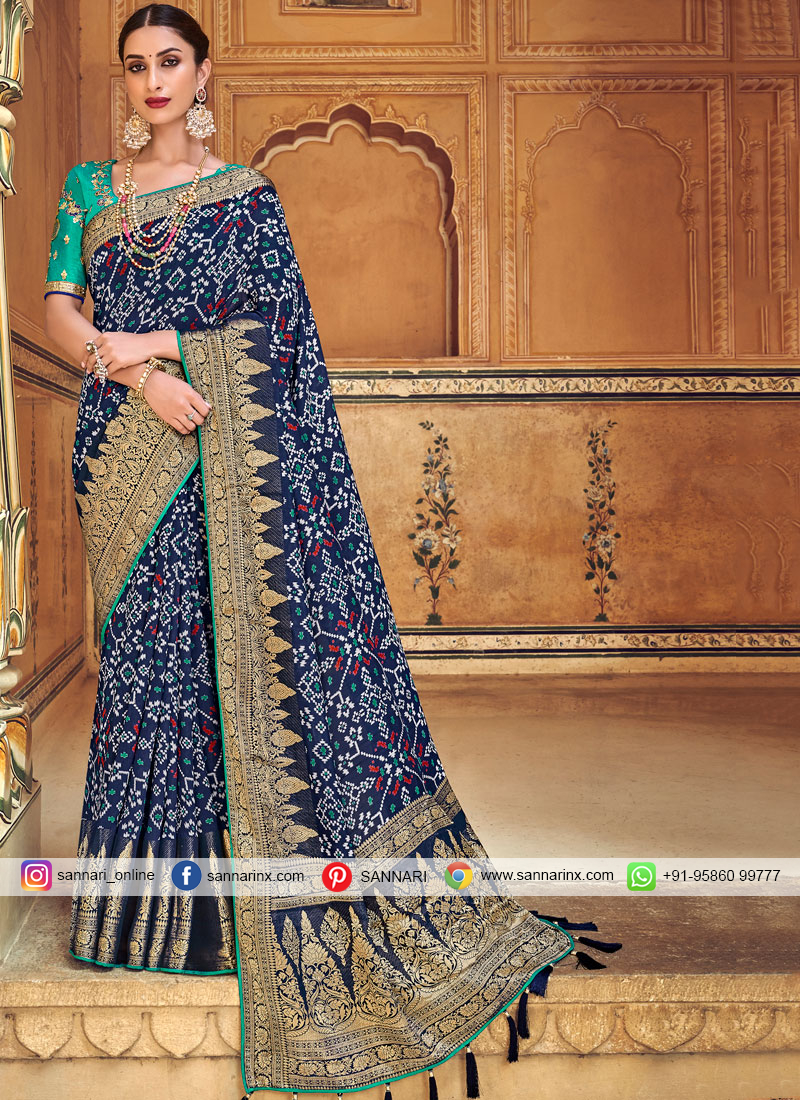 Engrossing Embroidered Wedding Traditional Designer Saree