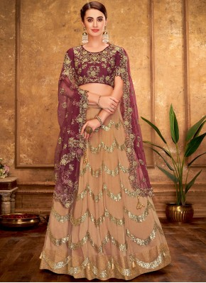 Engrossing Net Party Designer Lehenga Choli