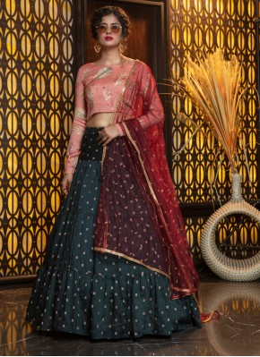 Enthralling Weaving Cotton Trendy Lehenga Choli