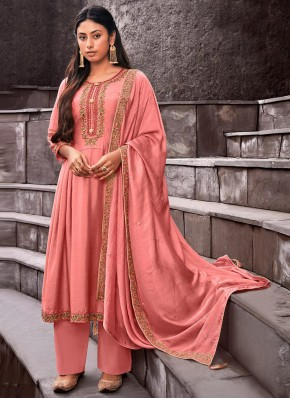 Enticing Cotton Silk Palazzo Designer Suit