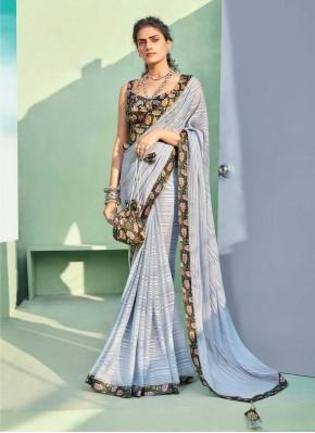 Enticing Grey Classic Designer Saree
